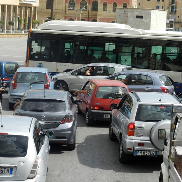 Palermo Italy Driving Photo by Margie Miklas