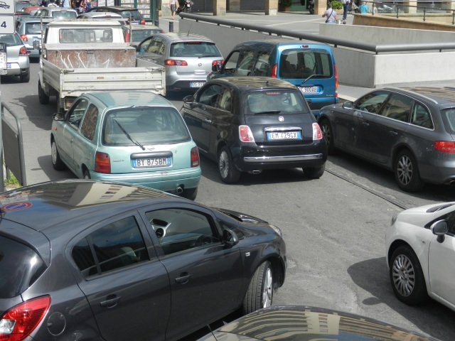 Driving in Palermo, Sicily Italy Photo by Margie Miklas