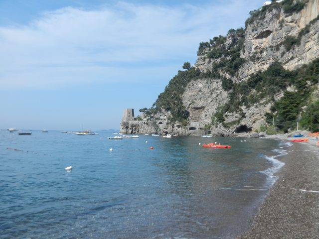 Fornillo Beach in Positano photo by MARGIE MIKLAS
