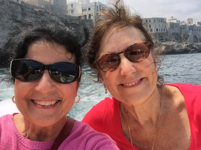 Margie and Victoria in Polignano a Mare Photo by Margie Miklas