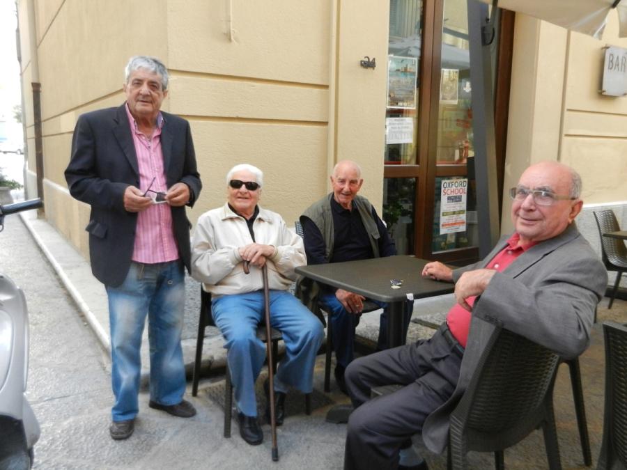 Older gentlemen in Trapani -Photo by Marguie Miklas