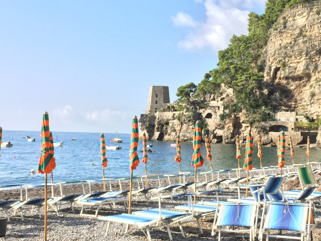 Fornillo Beach at Hotel Pupetto in Positano Photo by Margie Miklas