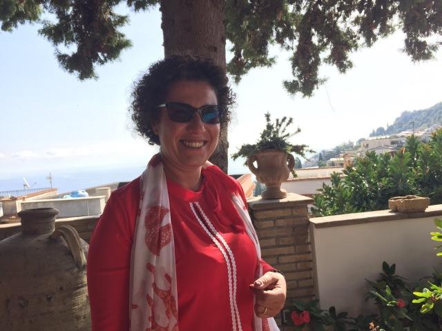 Simona Ferro from Tripping Sicily Photo by Margie Miklas