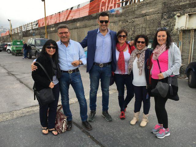 TGiardini-Naxos group at port. Photo by Margie Miklas