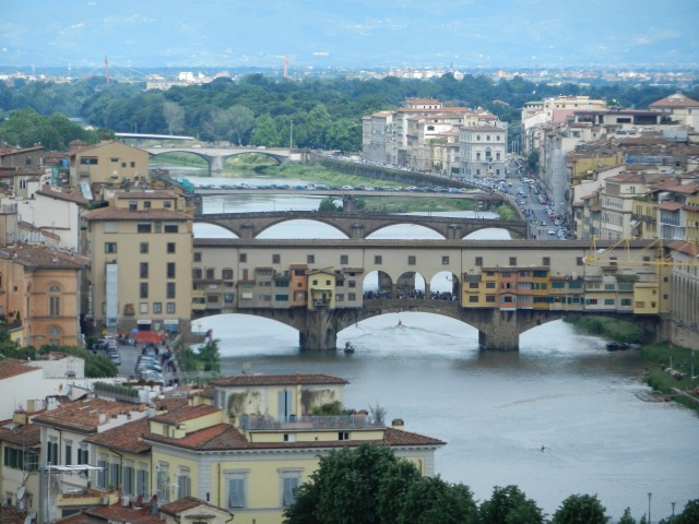 A view of Florence and the Arno River from Piazzale Michelangelo Photo by Margie Miklas