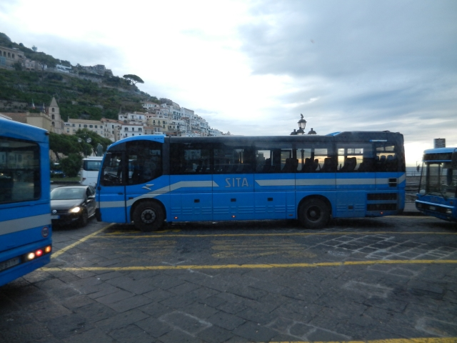 SITA bus in Amalfi Photo by Margie Miklas