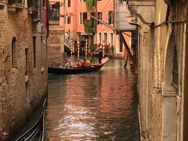 VENICE CANAL GOLDEN HOUR WISH YOU WERE HERE Photo by Margie Miklas