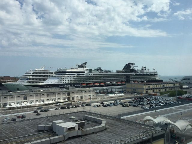 VENICE CRUISE SHIPS IN PORT PHOTO BY MARGIE MIKLAS